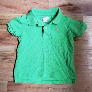 Ralph Lauren Polo Shirt Baby sz 18 mo Lime Green
